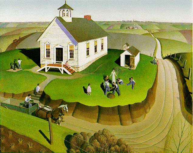 Arbor Day Painting Grant Wood