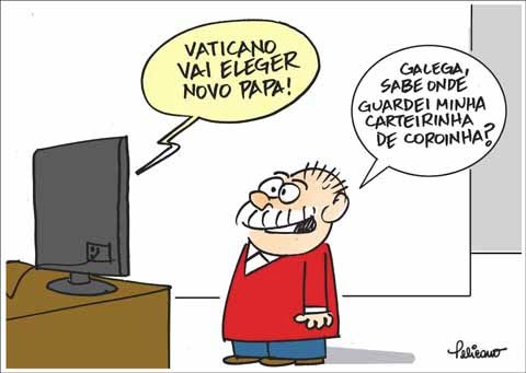 Lula Papa Vaticano Humor Cartuns Pelicano Blog do Mesquita
