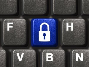 Computer keyboard with lock security key