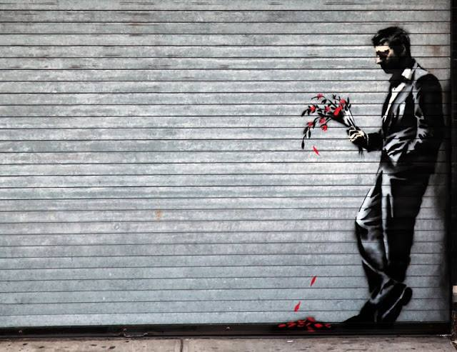 Arte, Pinturas, Grafite, Banksy,Waiting in vain