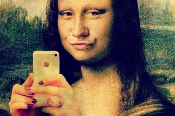 Selfie,Mona Lisa,Blog do Mesquita