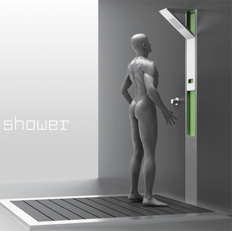 Design,Chuveiros,Blog do Mesquita,Sliding Shower, Sung Hoon Mun 04