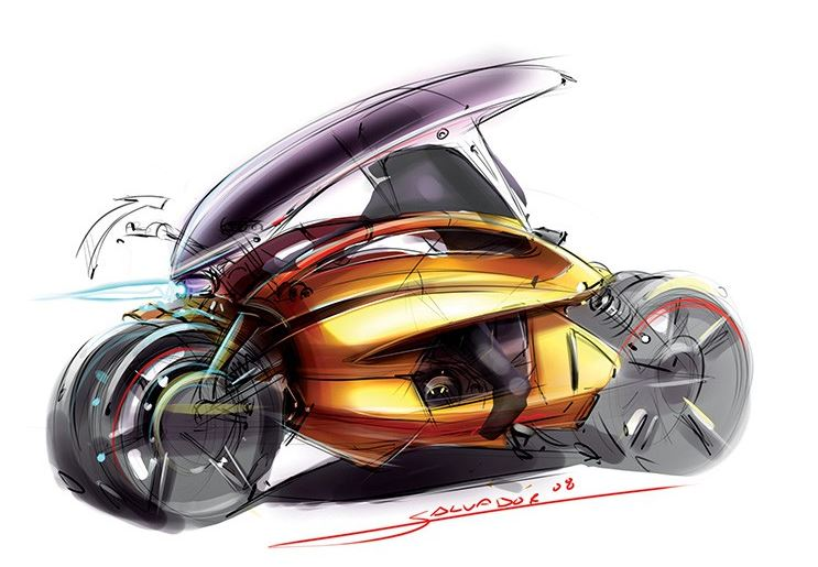 Design,Motocicletas,Blog do Mesquita,Salvador Gonzales,Yamaha Concept Bike