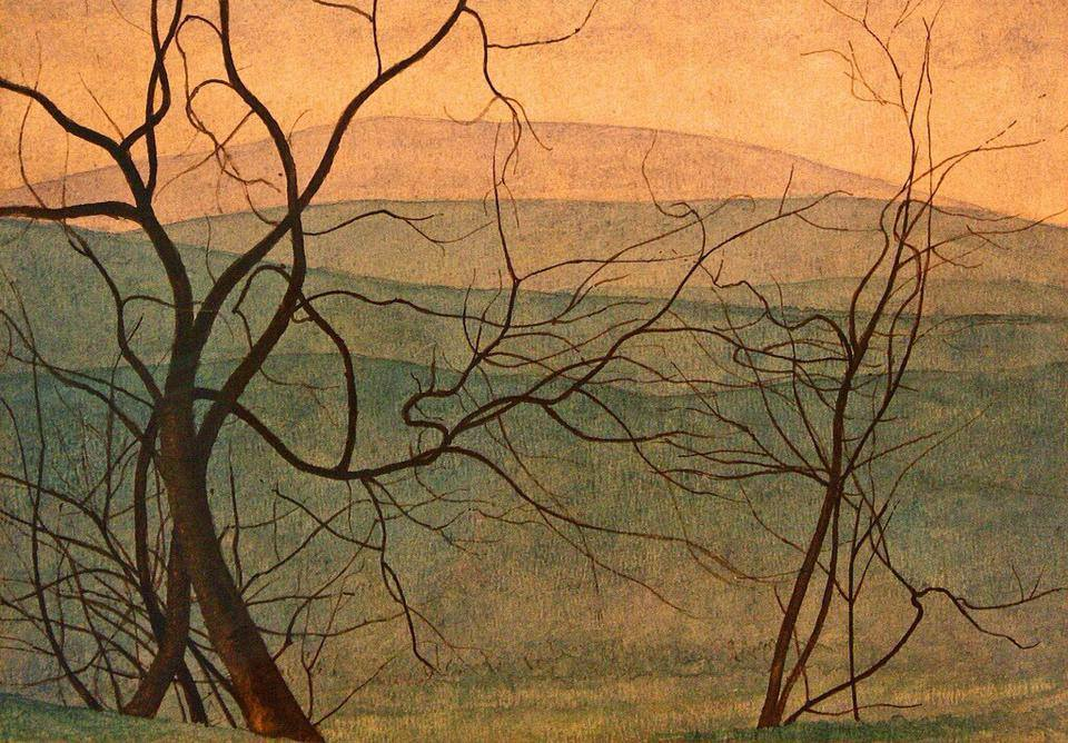 Arte,Pinturas,Léon Spilliaert,Branches, 1912, Blog do Mesquita