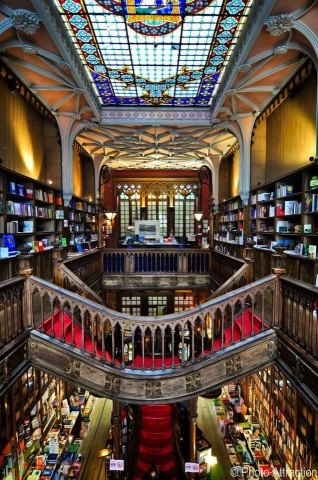 Livrarias,Blog do Mesquita,Portugal - Oporto Lello Bookstore 01