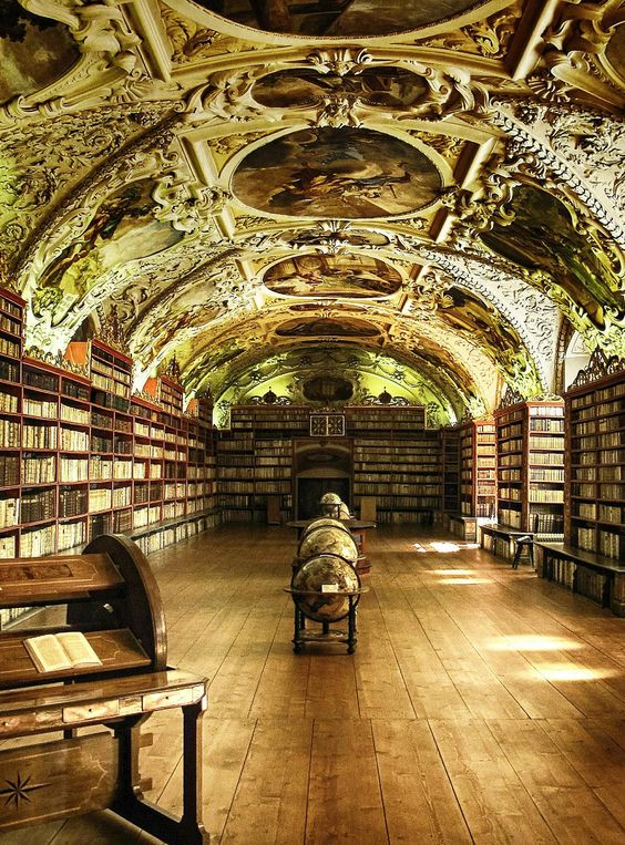 Arquitetura,Bibliotecas,The Philosophical Hall,Library of Strahov Monastery, Prague, Czech Republic,Blog do Mesquita 02