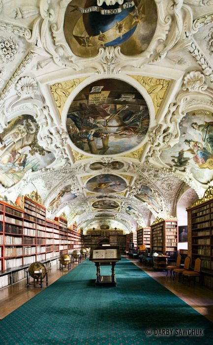 Arquitetura,Bibliotecas,The Philosophical Hall,Library of Strahov Monastery, Prague, Czech Republic,Blog do Mesquita 03