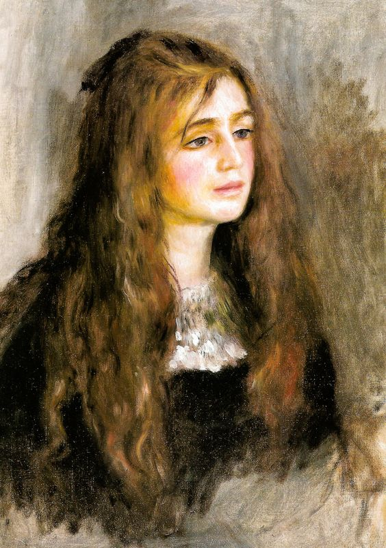 Arte,Pinturas,Pierre Auguste Renoir,Portrait of Julie Manet, 1894,Musée Marmottan Monet,Paris, France,Blog do Mesquita