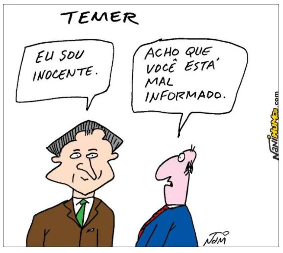 Humor,Nani,Temer,Desinformado,Blog do Mesquita