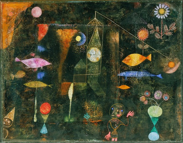 Arte, Pinturas,Blog do Mesquita,Paul Klee - Fish Magic, 1925