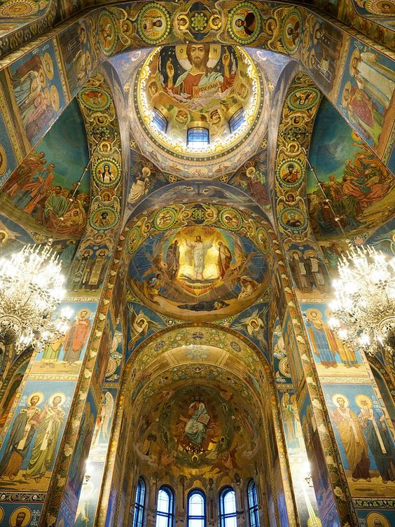 Arquitetura,Blog do Mesquita, Church of Our Savior on the Spilled Blood in St. Petersburg