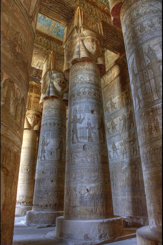 Arquitetura,Blog do Mesquita, Temple of Hathor, Dendara, Egypt