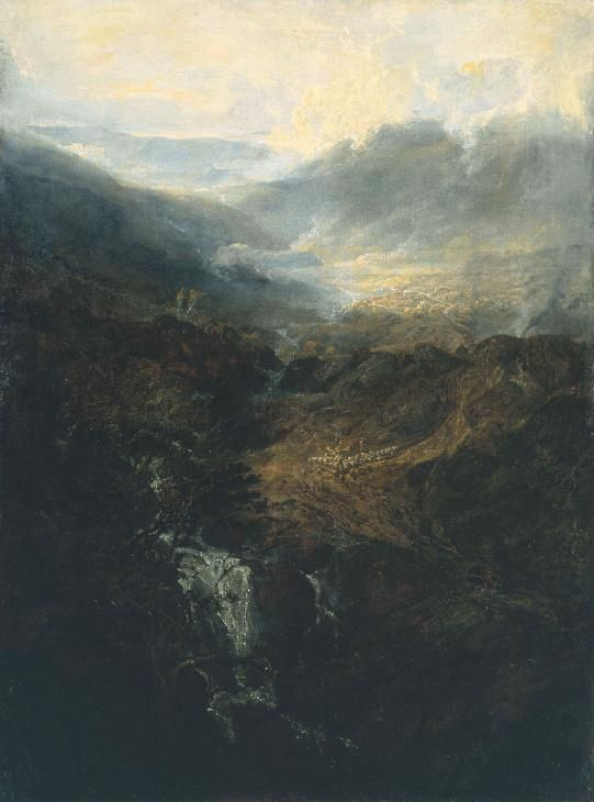 Blog do Mesquita,Arte,Artes Plásticas,Pinturas,Joseph Mallord William Turner,Morning amongst the Coniston Fells, Cumberland, 1798