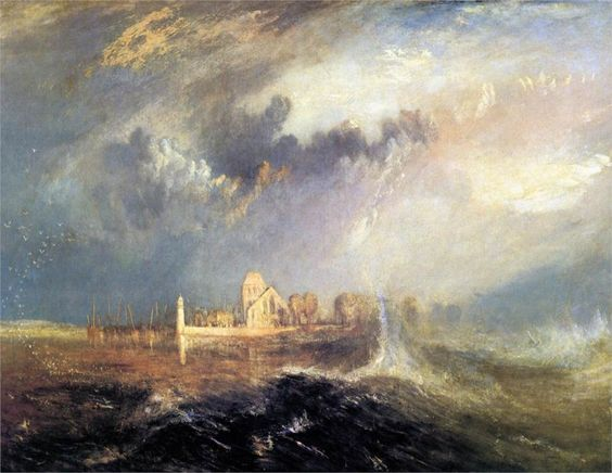Blog do Mesquita,Arte,Artes Plásticas,Pinturas,Joseph Mallord William Turner,Quillebeuf at the Mouth of Seine, 1833