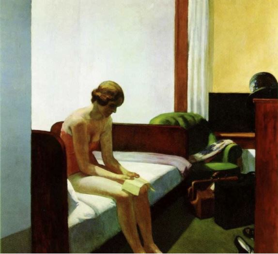 Edward Hopper,Arte,Pintura,Blog do Mesquita,Hotel Room,1931