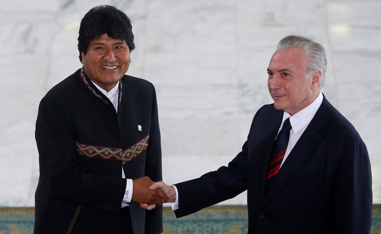 Evo Morales,Michel Temer Adriano Machado,Reuters,Blog do Mesquita