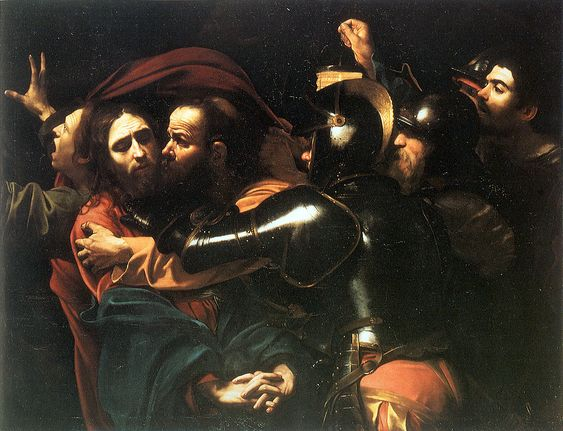 Arte-Pinturas-Blog do Mesquita-Michelangelo Merisi de Caravaggio-The Taking of Christ-1602-Óleo sobre tela,133.5 × 169.5 -Galeria Nacional da Irlanda-Dublin