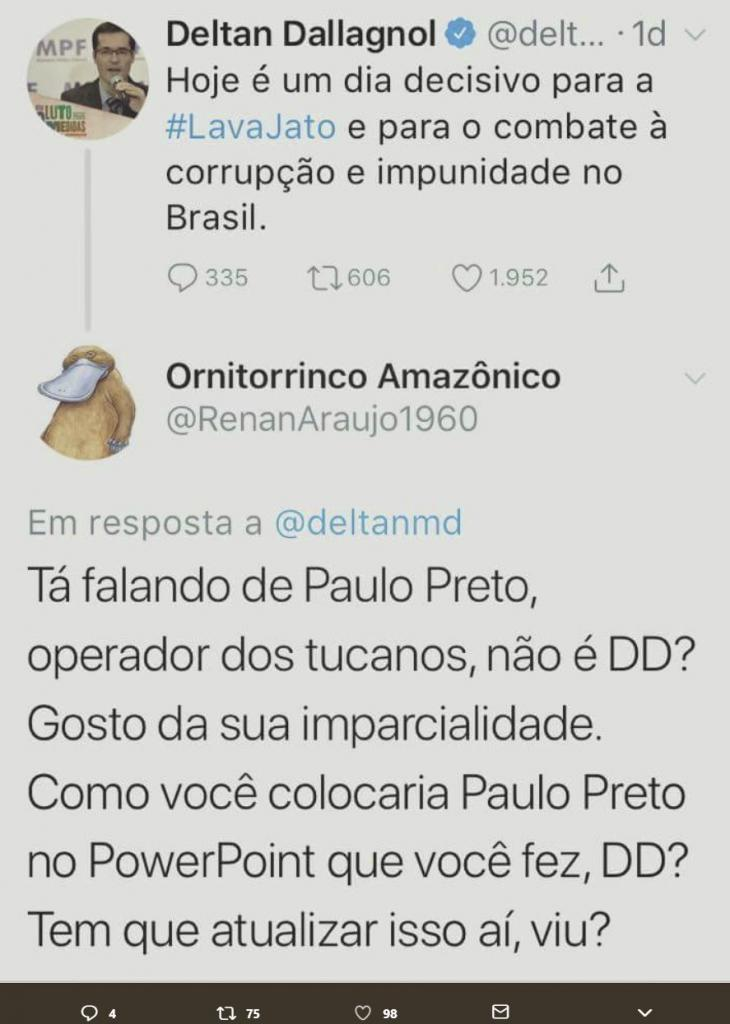 Lava jato,Paulo Preto,PSDB,Deltan Dallagnol,Blog do Mesquita