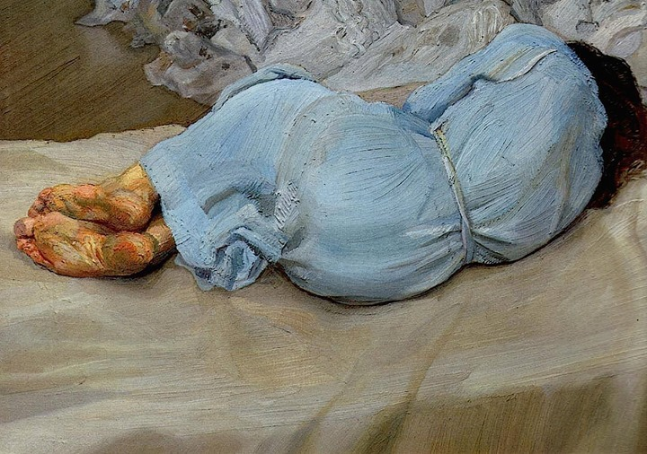 Arte,Pinturas,Lucian Freud,Annabel Sleeping,1987,Blog do Mesquita