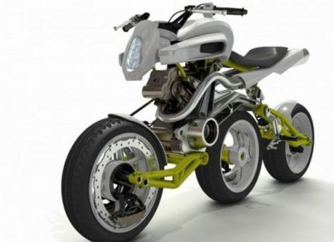 Design,Motocicletas,Bikes,,Blog do Mesquita,Axial Three Wheels Motorcycle Concept