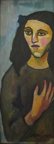 Arte,Pinturas,Sonia Delaunay, Jeune italienne, 1907,Blog do Mesquita