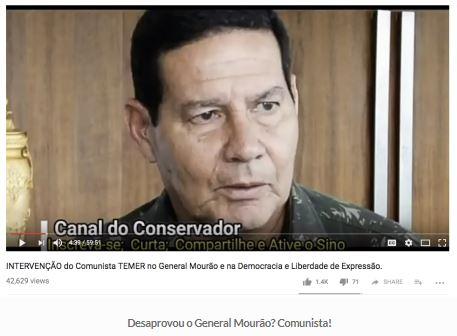 Brasil,Temer,Política,Comunismo,MBL,General Mourão,Bolsonaro