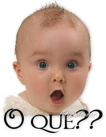 Bebê espantado,Blog do Mesquita