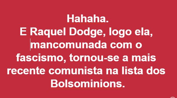 Raquel Dodge,Blog do Mesquita