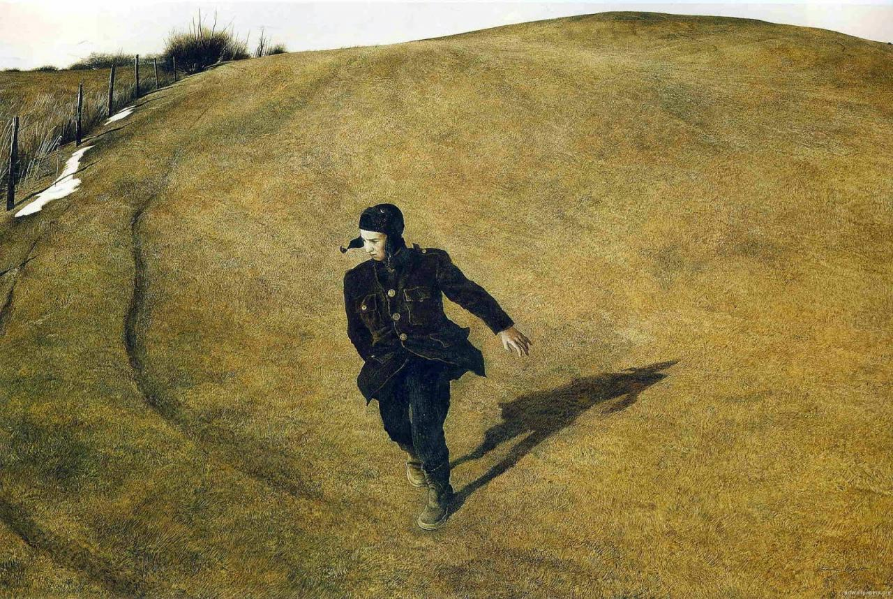 Arte,Pinturas,Aquarela,Andrew Wyeth,Blog do Mesquita