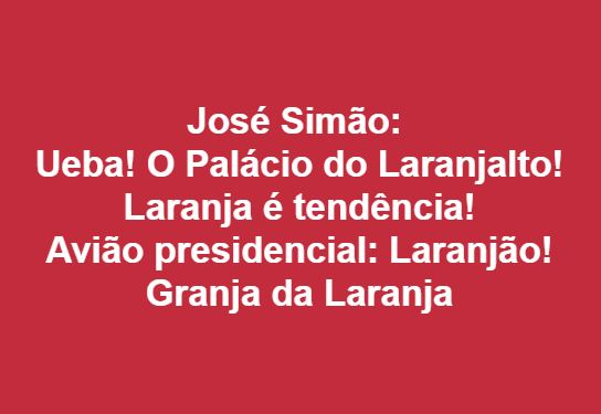 Laranjal,Bolsonaro,Blog do Mesquita