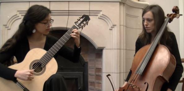 Música,Blog do Mesquita,Anna Comellas (cello) and Rosalind Beall (guitar)