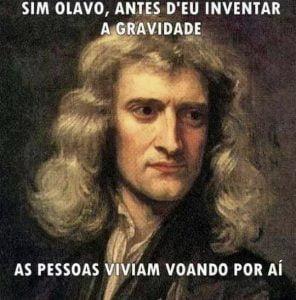 Olavo de Carvalho,Newton,Gravidade,Blog do Mesquita
