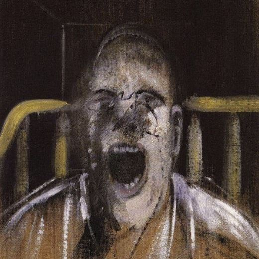 Arte,Pinturas,Francis Bacon,Blog do Mesquita,Study for the Head of a Screaming Pope, 1952