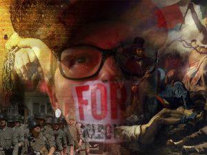 Liberdade Guiando o Povo,Repressão,Protestos,Passeatas,BlogdoMesquita 8x6