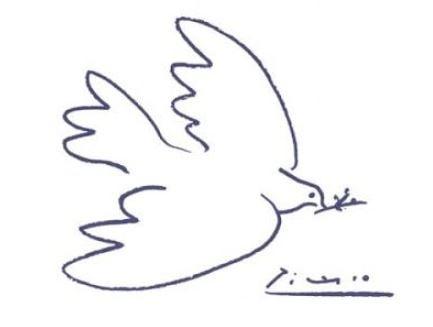 Artes Plásticas,Desenho,Pomba,Pablo Picasso,Blog do Mesquita