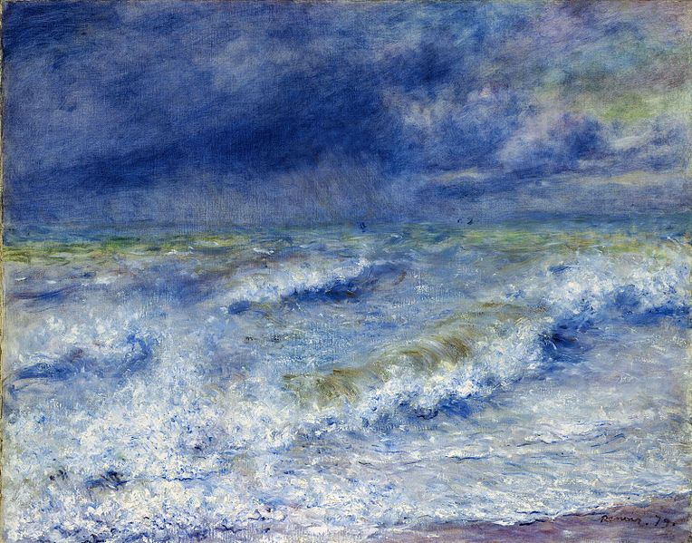 Renoir,Artes Plásticas,Pinturas,Blog do Mesquita,La vague,1879