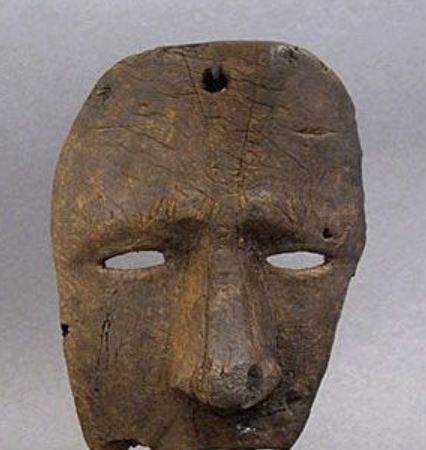 Artes Plásticas,Escultura,Máscara de Dança Ritual, Alaska,Blog do Mesquita